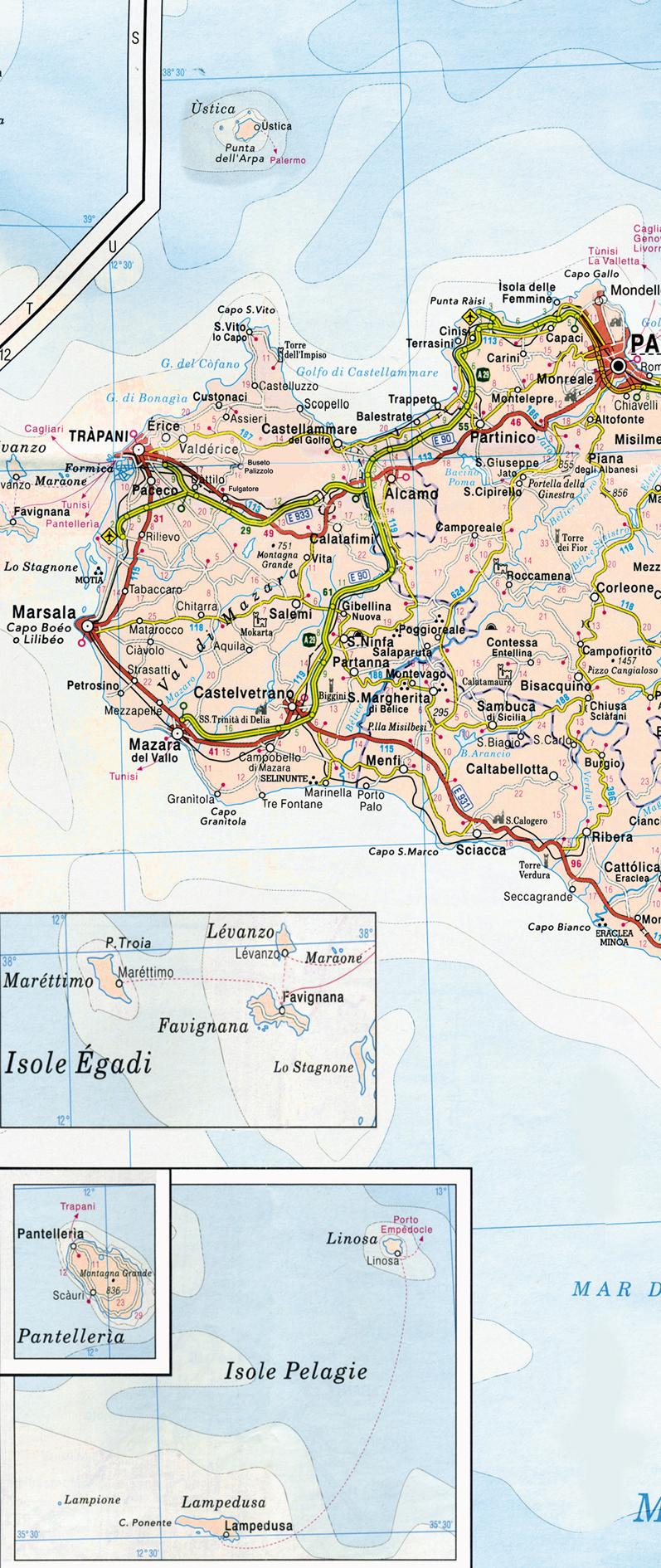 Percorrendo la sicilia cartina della sicilia occidentale cartina della sicilia centrale cartina della sicilia orientale altavistaventures Image collections