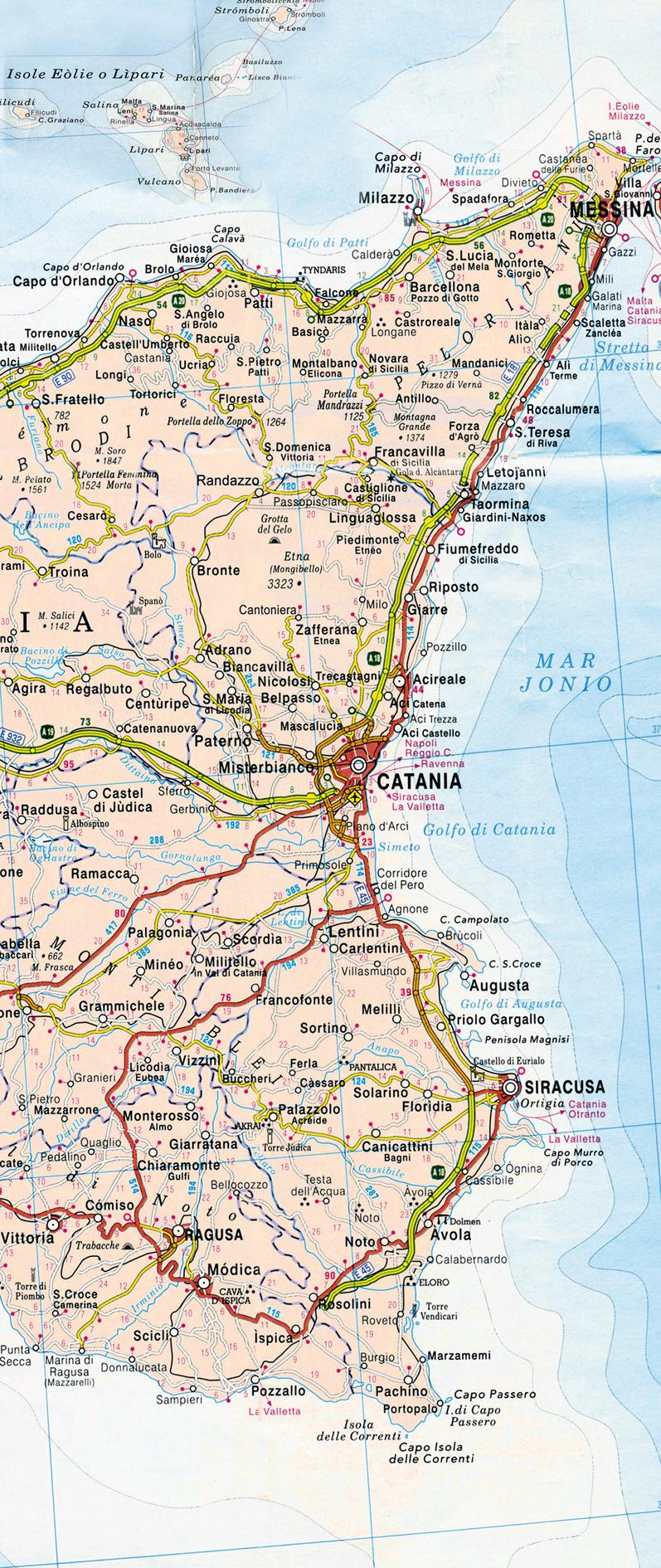 Percorrendo la sicilia cartina della sicilia occidentale cartina della sicilia centrale cartina della sicilia orientale thecheapjerseys Gallery